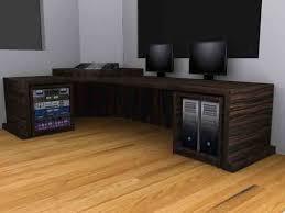 recording studio furniture macassar mixing editing desk with built in racks