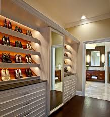 festoon lighting closet traditional with custom closet dark wood floor mirrors shoe shelves white