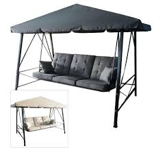 3 person outdoor swing with canopy gazebo 3 person swing replacement cushion garden winds replacement cushions