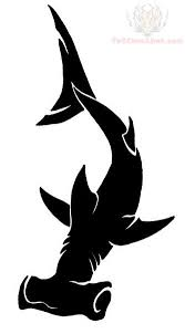 hammerhead shark tattoo drawing.  Shark Black Hammerhead Shark Tattoo Design And Drawing M