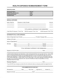 Reimbursement Form Medical Expenses Template Word Pdf By