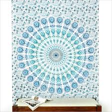 white mandala tapestry white boho