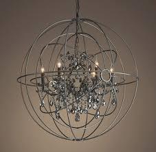 restoration hardware orb smoke crystal chandelier chandelier