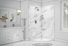 Seamless shower walls Shower Solid Surface Corian Decorative Faux Stone Custom Shower Wall Panels Can Be Combined With Custom Solid Surface Shower Pans Granite Quartz Corian Countertops Custom Shower Wall Panels Things Nobody Tells You That You Need