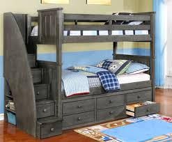 bunk beds with storage. Wonderful Bunk TwinTwin Jordan Bunk Bed In Weathered Grey With Staircase Waterford  Captainu0027s Storage And With Beds Rooms4Kids