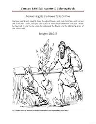 Samson And Delilah Activity Coloring Book