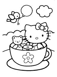 Disegni Per Bambini Hello Kitty Tazza Disegni Da Colorare
