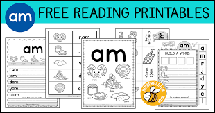 Activity worksheets for beginner phonics books. Am Word Family Worksheets Kindergarten Mom