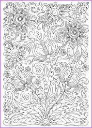 сoloring Page Doodle Flowers Printable For Adults Zen Doodle Pdf