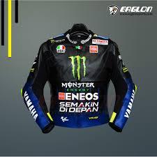 Valentino Rossi Yamaha Motogp 2019 Leather Riding Jacket
