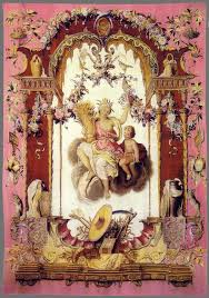 French Rococo Artist And Tapestry Designer Summer Portieries Of The Gods After Designs By Claude