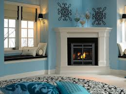 decoration cozy mini window bench seat idea plus round area rug with blue floor pillows outside fireplacecorner