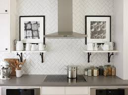 Image of: Modern Subway Tile Backsplash Kitchen