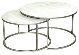 round silver side table best silver metal round nesting coffee tables top with regard to silver round silver side table