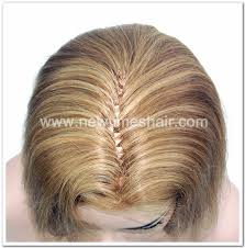 human hair integration fish net wig for
