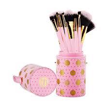 dot collection 11 piece brush set pink