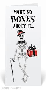 halloween birthday greeting skeleton halloween greeting card 12629 harrison greetings