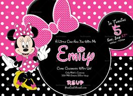 Minnie Mouse Invitation Design Special Minnie Mouse Birthday Invitation Template