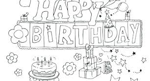 Birthday Coloring Page Cspninfo