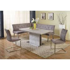 Dining nook furniture Corner Walmartcom Chintaly Kalinda 4piece Nook Dining Table Set Walmartcom