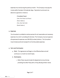 Retainer Agreement Free Sample Docsketch