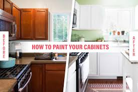 how to paint your kitchen cabinets so it looks like you totally replaced them