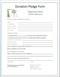 Printable Donation Form Template Fundraising Pledge Form Template Pledge Form Template Uk