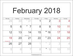calendar february 2018 indonesia printable editable blank