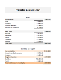 Balance Sheet Templates Fascinating Business Plan Financial CalculatorProjected Balance Sheet
