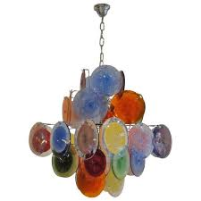 beautiful multi light pendant chandelier from multi color murano glass chandelier at 1stdibs