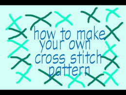 How To Make A Cross Stitch Pattern Extraordinary How To Make Your Own Cross Stitch Pattern YouTube
