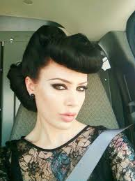 pin up style hair micheline pitt