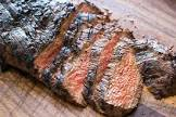 barbecued flank steak