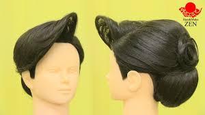 和装ヘアセット2夜の和髪前髪立ち上げ後ろ2段 Zenのヘアセット56