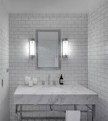 white subway tile and grey grout