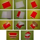 Как из бумаги сделать санту клауса