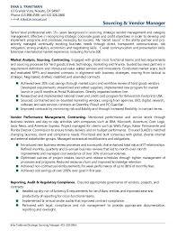 Vendor Management Resume Sample Costumepartyrun
