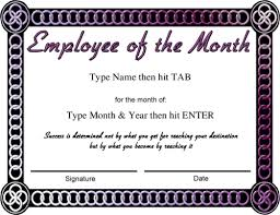 Employee Of The Month Certificate Templates Award Certificate Template Powerpoint Free Copy Best Employee