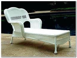white plastic outdoor chaise lounge