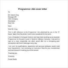 Computer Programmer Cover Letter Example Icover Org Uk For Job