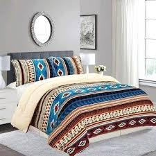 Elegant Aztec Bedroom Fleece Comforter Set Aztec Black Gloss Bedroom Furniture