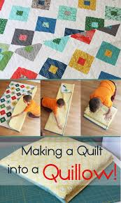 Quillow Pattern Adorable How To Make A Quilt Into A Quillow Cluck Cluck Sew