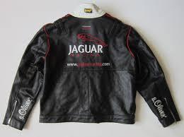 jaguar motorbike leather jacket british racing team with jaguar f1 team logos