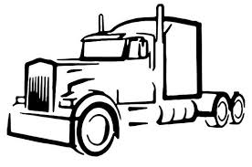 truck drawing outline. Contemporary Outline Truck Driver Semi Truck Vinyl Decal Outline Custom Made Outdoor Decalu2026 Intended Drawing Outline C