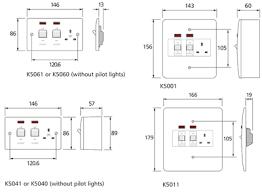 mk electric k5001whi logic plus white metal double pole surface 2-Way Switch Wiring Diagram at Mk Cooker Switch Wiring Diagram