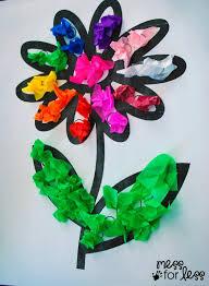 Paper Flower Crafts For Kindergarten Tissue Paper Flower Art Activity Mess For Less