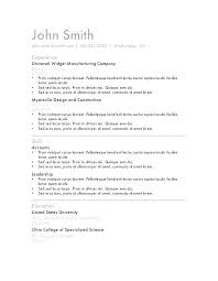 Best Resume Format To Use Resume Format Doc Simple Resume Template