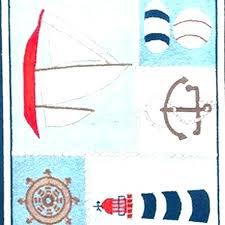 nautical rug runners themed rugs throw nursery round