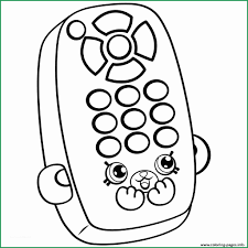 Shopkins Coloring Pages To Print Free Great Cartoon Remote Petkins