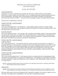 Resumes For Administrative Assistants Cool Sample Resume Legal Secretary Objective For Secretary Resume